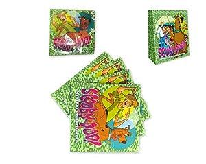 Atosa-Atosa-17115-pack 15 servilletas 33x33 cms Scooby doo, Color Verde, Talla única (17115)
