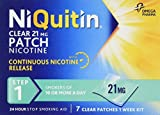 NiQuitin Clear 24 Hour 7 Patches Step 1, 21 mg, 1 Week Kit