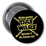 Krause & Sohn Button mit Spruch Kindergarten Das war`s Anstecker Geschenk zum Schulanfang
