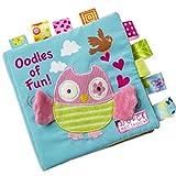 needra Stoff Aktivität Crinkle Tuch Bücher für Babys, handgefertigt Bildungs-Spielzeug für Baby, 1Jahr, Kleinkind mit Peekaboo Klappe, interaktives Baby Dusche Geschenke Boy Girl, Best Geschenk
