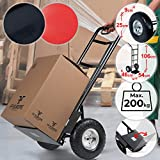 Jago Sackkarre bis 200kg - klappbar, aus Stahl, 116 x 54 x 46 cm, Farbwahl - Transportkarre, Handkarre, Stapelkarre