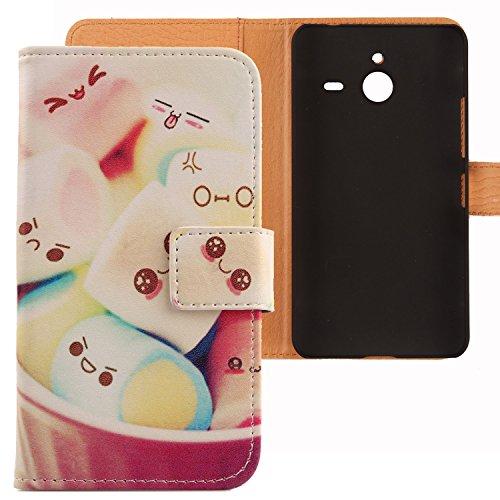 Lankashi PU Flip Leder Tasche Hülle Case Cover Schutz Handy Etui Skin Für Microsoft Lumia 640 XL Dual Sim 4G Lovely Design