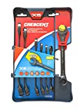 Crescent CX6RWS7 Combination Wrench Set with Ratcheting Open-End and Static Box-End, 7-Piece by Apex Tool Group