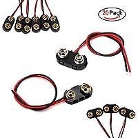 mit Druckknopfanschluss kj-vertrieb 10 x Batteriehalter f/ür 2X Mignon 9V-Block AA