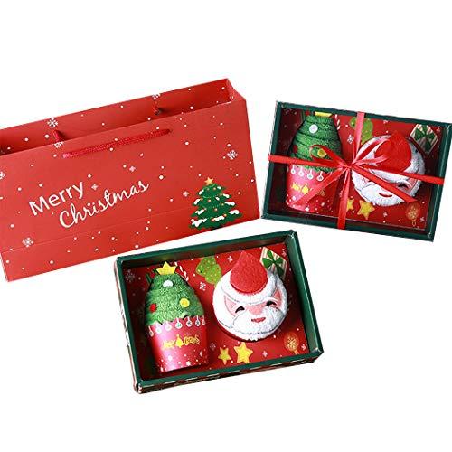 Justdolife Weihnachts Handtuch Weihnachten Hand Gesicht Handtuch für Kinder