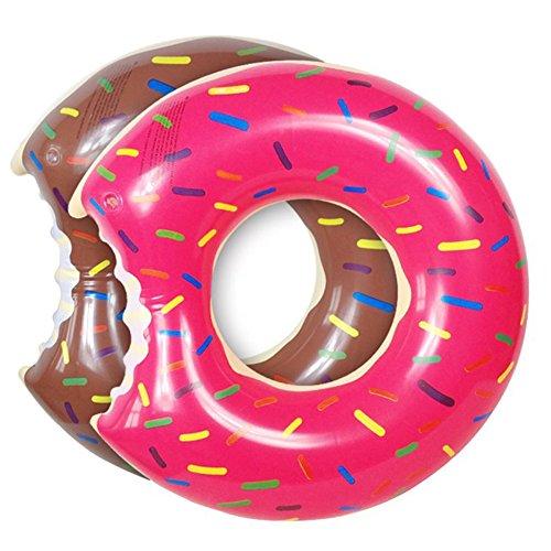 Wuudi Donut Schwimmring 2 Stück und Reifenpumpe, 1 Stück, durchdacht, für Erwachsene