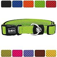[Gesponsert]DDOXX Hundehalsband Air Mesh | für Große, Mittelgroße, Mittlere & Kleine Hunde | Halsband Hund | Katze | Hundehalsbänder | Katzen Halsbänder | Katzenhalsband | Grün, XS - 1,5 x 21-30 cm
