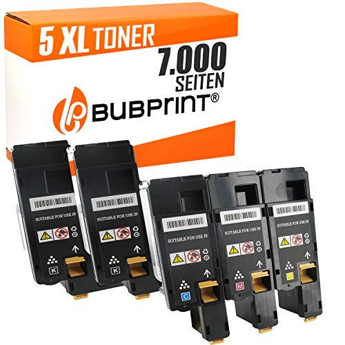Bubprint 5 Toner kompatibel für Xerox 106R02759 106R02756 106R02757 106R02758 für Phaser 6020 6020BI 6022 6027 WorkCentre 6025 6027 BK/C/M/Y -