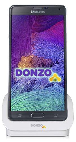 DONZO USB Docking-Station|Ladegerät für Samsung Galaxy Note 4 / N910 inkl. micro-USB Daten-Kabel Weiß -