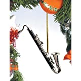 Music Treasures Co. Black Bass Clarinet Christmas Ornament by Music Treasures Co.