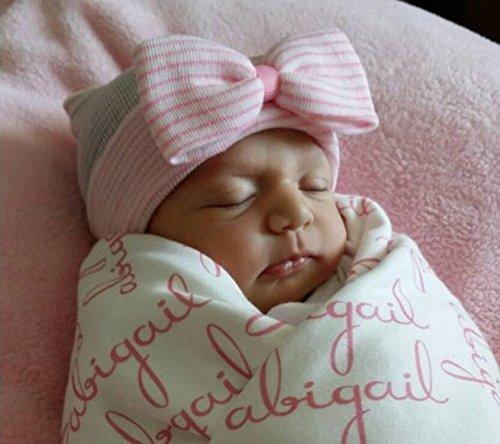 Primi Lovely Unisex Bebé Sombreros grandes de nudo lazo bebé gorro de  algodón múltiples – color 17a5a001a88