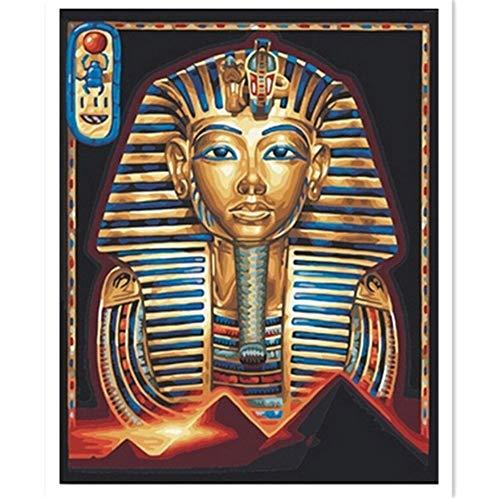 Fqz93in Ägyptische Pharao Maske DIY Diamant Stickerei Hand 3D Diamant malerei kreuzstich voll Bohrer Strass malerei st 50x60cm