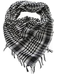Kuldip Men's Chequered Arab Arafat Shemagh Kafiyah Desert Style Scarf Throw