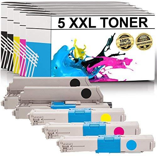 LABT Toner Kompatibel zu Oki C310 DN/ C330 DN/ C331 DN/ C510 DN/ C511 DN/ C530 DN/ C531 DN/ MC351 DN/ MC352 DN/ MC361 DN/ MC362 DN/ MC561 DN/ MC562 DN/ MC562DNW | 5er Set | 2xSchwarz, Blau, Rot, Gelb