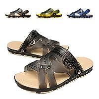 Techcity Unisex Garden Clog Outdoor Walking Sandal Slippers Non-Slip Beach Shower Pool Sport Slide for Casual (9.5-10.5 M US, Black)