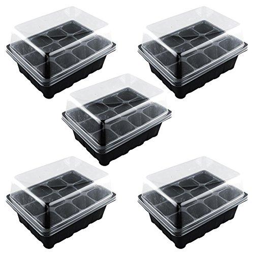 Kicode Durable Trou de 12 cellules Boîte de culture de semences végétales Ensemble de clonage Outils de jardin