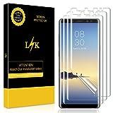 LK Galaxy Note 8 Schutzfolie [3 Pack], Liquid Skin [Vollständige Abdeckung] [Blasenfreie] HD klar Flexible Folie for Samsung Galaxy Note 8 Schutzfolie.