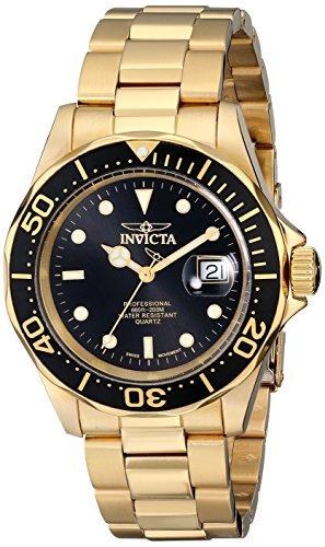 Invicta Pro Diver - 9311 Orologio da Polso, Analogico, Uomo, Cinturino Acciaio Inossidabile, Oro