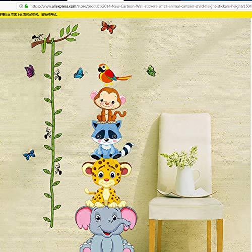 lsweia mariposas Cartoon Kinder Wandaufkleber Kleine Tier Cartoon Kind Höhe Aufkleber Höhe Wandtattoos Vinyl Aufkleber Wohnkultur Mariposa Tiere