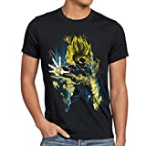 CottonCloud Power of Goku Camiseta para Hombre T-Shirt God Z Vegeta Roshi Ball, Talla:L, Color:Negro