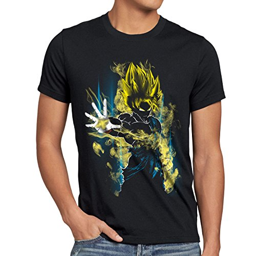 CottonCloud Power of Goku Herren T-Shirt dragon Z vegeta roshi ball, Größe:L;Farbe:Schwarz (Ball Fitness Shirts Von Z Dragon)