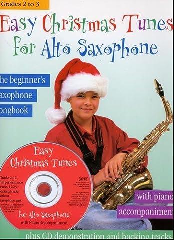 EASY CHRISTMAS TUNES FOR ALTO SAXOPHONE ASAX BOOK/CD (Kalmus Edition)