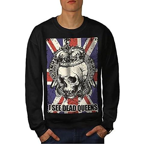 Schädel Tot Königin Metall Vereinigtes Königreich Skelett Vereinigtes Königreich Herren M Sweatshirt | Wellcoda