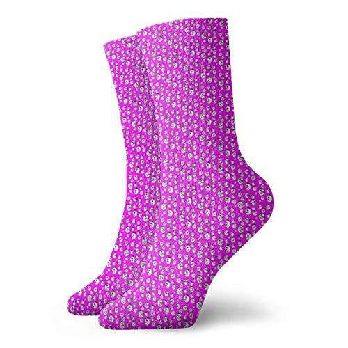 Huabuqi Panda Head Pink_3693 Fancy Socken für Damen, Anti-Colorant 谷 für Männer Frauen 100% Baumwolle, Einheitsgröße. - Farbton Damen Socken Jeans