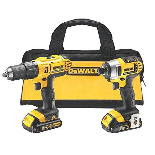Dewalt DCZ298C2 Perceuse visseuse à percussion avec visseuse à chocs/2 batteries 18 V/1,3 Ah