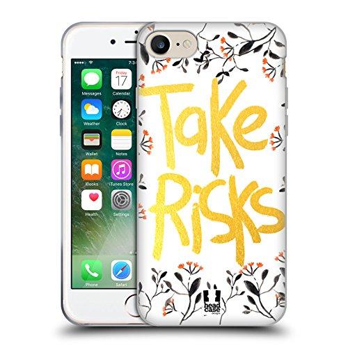 Head Case Designs Plettro Problemi Di Chitarra Cover Morbida In Gel Per Apple iPhone 7 / iPhone 8 Foglie