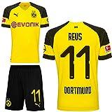 Puma BVB Borussia Dortmund Fußball Set Home Heimset 2018 2019 Kinder Marco Reus 11 Gr 176