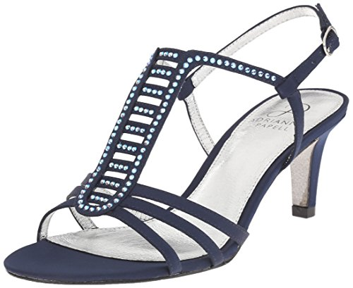 Adrianna Papell Ainsley Satin Sandales Navy