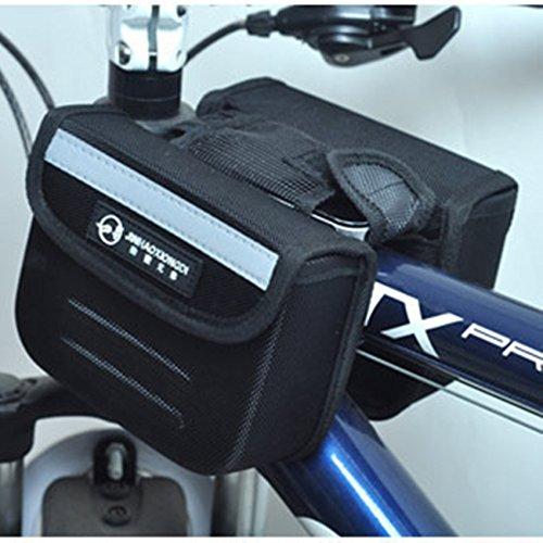 FAN4ZAME Fahrrad Harte Schale Zwei Seitlichen Tasche Sattel-Lkw Paket Mountainbike Obere Leitung Querträger Tasche Black