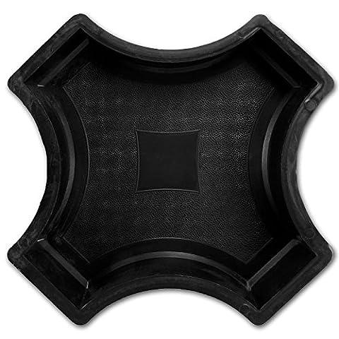 @tec Betonform Schalungsform Gießform Plastikformen für Beton - Ergänzungsstück / Kreuz zum Trittstein Kreis mit Stern ca 25cm - Trittsteinplatte - Gehwegplatte - (Grün Harz Kreuz)