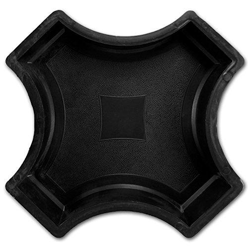 @tec Betonform Schalungsform Gießform Plastikformen für Beton - Ergänzungsstück / Kreuz zum Trittstein Kreis mit Stern ca 25cm - Trittsteinplatte - Gehwegplatte - Trittplatte