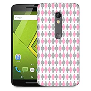 Snoogg Abstract Design White Pattern Designer Protective Phone Back Case Cover For Lenovo Motorola Moto G4