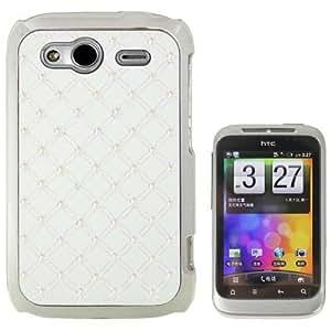 JbTec ® étui de protection pour hTC wildfire s a510E g13/pG76100–avec sTRASS-blanc-coque de protection pour téléphone portable