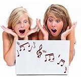 32 Music Notes - Car / Laptop / Wall / Fridge Vinyl Wall Sticker (32 Music Notes)