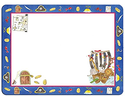 Children's A4 Doodle Placemat Pirate Design With Pen By Milly