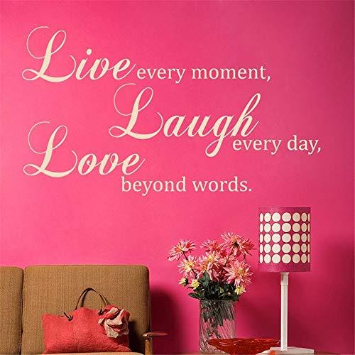 wandaufkleber feuerwehr lebe jeden Moment lache jeden Tag Liebe über Worte hinaus für Wohnzimmer Schlafzimmer