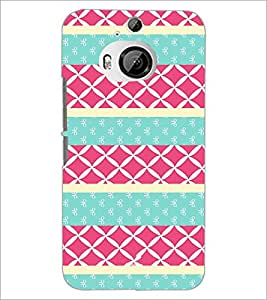 PrintDhaba Pattern D-3786 Back Case Cover for HTC ONE M9 PLUS (Multi-Coloured)