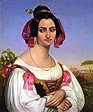 Fortunata Segatori - By Johann Heinrich Richter - Leinwanddrucke 24x29 Inch Ungerahmt