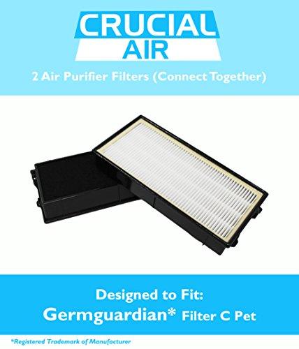 germguardian Filter C Pet passt-in Air Reinigung Systeme–5000Modell Serie, vergleichen zu Teil # flt5250pt, inklusive 2Filter, die Passform zusammen in Luftreiniger, entworfen und hergestellt von Crucial Air