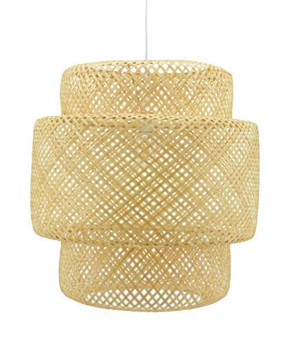 Luminaire naturelle Halong - Suspension en bambou - suspension design ø37cm x H57cm - E27 60W