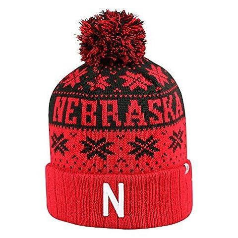 Nebraska Cornhuskers Subarctic Cuffed Pom Knit Beanie Hat / Cap by Top of the World