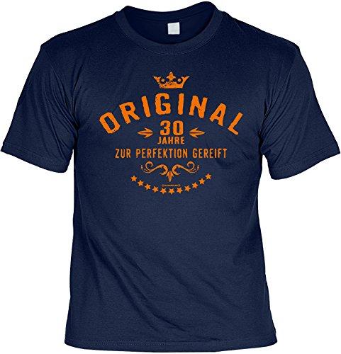 Geburtstagsgeschenk Geschenk zum Geburtstag T-Shirt Original 30 Jahre Geschenkidee für das Geburstagskind Shirt Leiberl Leiberl Navyblau