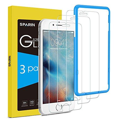 [3-Pack] Protector Pantalla iPhone 6s, SPARIN Cristal Templado iPhone 6s, Vidrio Templado iPhone 6 Protector de Pantalla con [2.5d Borde redondo] [9H Dureza] [Alta Definicion] para iPhone 6s / iPhone 6