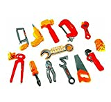 #9: Elite Enterprises Tool Set Toys for Kids, (Set of 14 Pcs) Pretend Play Set, Little Engineer Pretend Toolkit Construction Tools, Role Play Engineer Workshop Tool Kit for Children
