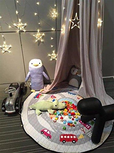 Preisvergleich Produktbild Kinder Aufräumsack Spielmatte Spielzeugteppich für kinderzimmer Speicher Tasche& Aufbewahrung,150cm (Auto)
