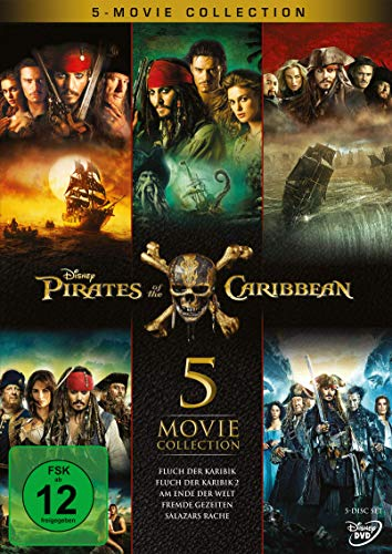 Pirates of the Caribbean 5-Movie Collection [5 DVDs] (Dvd Bild)